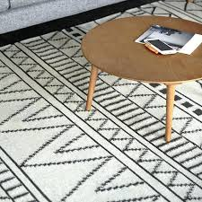 wool carpet geometric rug plaid black white grey striped modern contemporary and nz