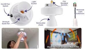 breezelite light socket ceiling fan installs in seconds official tv site