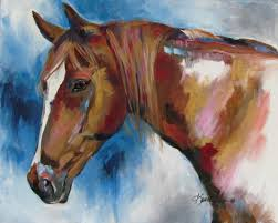 tennessee walker 16x20 acrylic representational style painting on canvas commissions welcome see