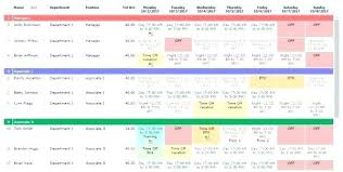 Monthly Calendar Template Excel 2010 Schedule Employee Month Work