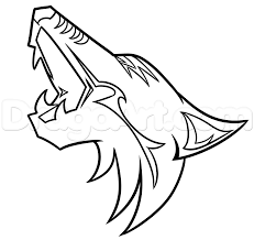 Small Picture How to Draw the Arizona Coyotes Logo Step by Step Sports Pop