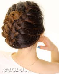 French Braid Updo Hairstyles How To French Braid Tuck Your Hair In 5 Minutes Hairstyles