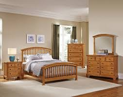 Medium Oak Bedroom Furniture Forsyth Medium Oak Arched Bedroom Set By Virginia House Furniture