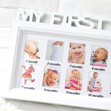 12 month baby frame memorial photo letter piece conjoined children months wall picture combination of in