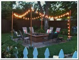 How To Hang Outdoor String Lights Adorable DIY Outdoor Patio String Lights Landscape Lighting Guru