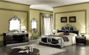 italian bed set furniture. Camel Barocco Black And Silver Italian Bedroom Set With Double Dresser Bed Furniture