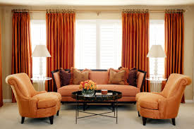 Orange Decorating For Living Room Orange And Brown Living Room Curtains Yes Yes Go