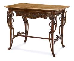 art nouveau furniture. a french art nouveau carved mixed wood table circa 1900 furniture