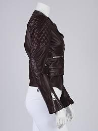 balenciaga burdy quilted lambskin leather biker jacket size 2 36