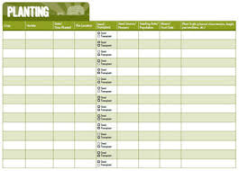 Planting Dates Chart 7 Crop Record Keeping Charts Hobby Farms