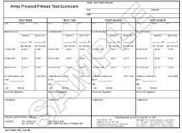 Fitness Assessment Form Gorgeous FM 4848 Chapter 48 Army Physical Fitness Test 48 Cord