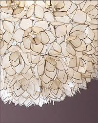 lotus flower pendant chandelier detail of the capiz s
