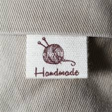 Diy Clothing Label Us 6 46 5 Off Free Shipping Stock Handmade Label Cotton Printed Tag Diy Gift Label Off White Cotton Label Printing Custom Clothing Label Logo In