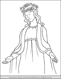 Mary Queen Of May Crowning Coloring