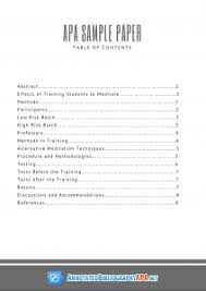 Table Of Contents Apa Correct Apa Sample Paper With Table Of Contents Annotated