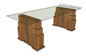 art deco reproduction furniture. skyscraper tables new art deco u0027skyscraperu0027 style stepped dining table with glass top reproduction furniture