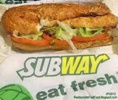 values are based on 9 grain wheat bread with lettuce cuber tomatoes green peppers and onions cheese and dressing are not included and will have