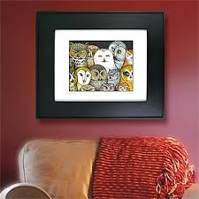 owls  on rectangular framed wall art with art archives home interior design themes