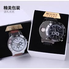 Creative new product <b>charging watch</b> lighter men's <b>metal windproof</b> ...