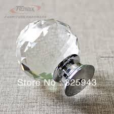 2x40mm clear round glass cabinet drawer crystal knobs and handles dresser  door knob kids bedroom kitchen