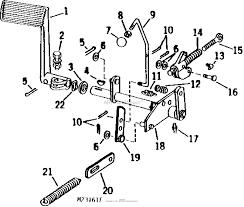John deere parts diagrams john deere 110 lawn garden tractor 8 hp k181s kohler engine 10 hp k241as kohler engine pc1276 clutch brake pedal shaft park