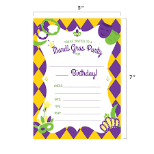 B Day Invitation Cards Amazon Com Mardi Gras Happy Birthday Invitations Invite