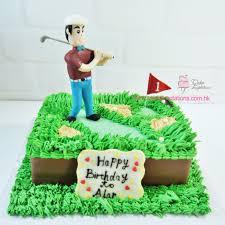Mini Golf Birthday Cake Sports Transportation