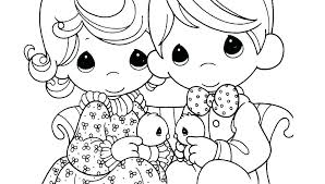 Free Precious Moments Christmas Coloring Pages Nativity Scene Manger