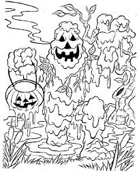 Small Picture Printable Scary Halloween Coloring Pages AZ Coloring Pages inside