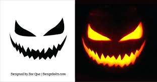 Scary Pumpkin Carving Patterns Interesting Scary Pumpkin Carving Stencils Faces Pictures Templates Ideas Creepy