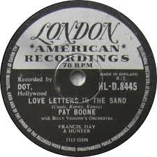 pat boone love letters in the sand london 78