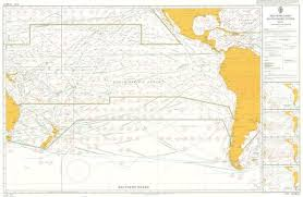Admiralty 5128 Planning Chart Routeing South Pacific Ocean