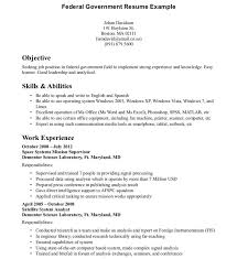 Example Of Federal Government Resumes Resume Templates Format Of Federal Government Httptopresume