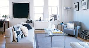 One Bedroom Apartment Decorating Led Tv Units Attached On The Wall Tv Over Beige Wall Mounted Bench