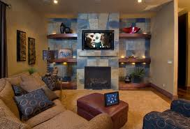 slate tile fireplace in family room traditional with beige sectional accent lighting accent lighting family room