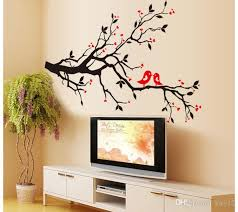 tree branch birds love wall sticker tree vinyl wall decal stickers home decoration wall art  on tree branches vinyl wall art with tree branch birds love wall sticker tree vinyl wall decal stickers