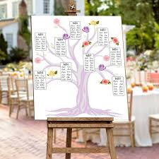Ourwarm Wedding Place Cards Wedding Table Seating Chart Diy Table Setting Plan Flowers Seating Charts