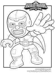ColorPage 02 kids zone lucha libre on lucha libre coloring pages