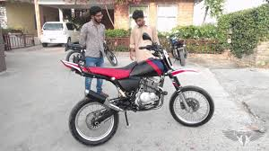 suzuki gs150 supermoto modified motorbike review pakistan youtube
