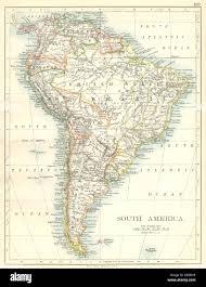 Südamerika: Brasilien Argentinien Peru Bolivien Paraguay Uruguay Chile,  1897-Karte Stockfotografie - Alamy