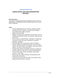 groundskeeper cv work experience