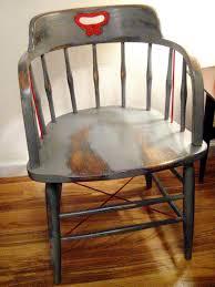 chair before refinishing