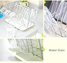 stainless steel square cup holder with tray bottle drying rack antibiotic drainer dryer shelf water glass water bottle drying rack best