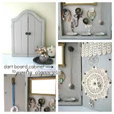 Diy Jewelry Cabinet Dartboard Cabinet Jewelry Organizer A Diy Diary Of An Addict