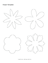Rose Template Printable Giant Flower 4 Petal Sizes Paper