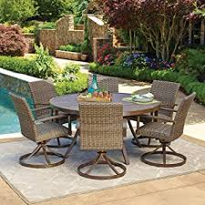 wicker outdoor dining set. 7pc All-Weather Wicker Outdoor Patio Dining Set W/ 60\u0026quot; Round Table I