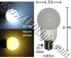 refrigerator light bulb. 1.5 watt appliance e17 base led light bulb - household lights ledlight refrigerator
