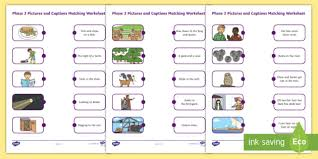 Includes differentiated support and independent sheets. Phase 3 Pictures And Captions Matching Worksheets Phase 3