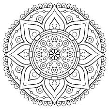 Printable Mandala Coloring Pages Free Within Flower Simple Cannexus Co