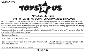 toys r us job application printable job employment forms toys r us job application